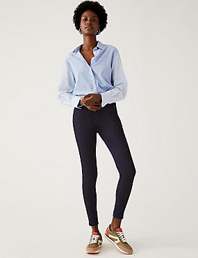 High Waist Super Skinny Jeans, INDIGO, catlanding