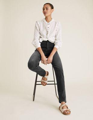 Sophia High Waisted Straight Leg Jeans
