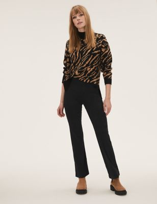 Suedette High Waisted Flared Leggings