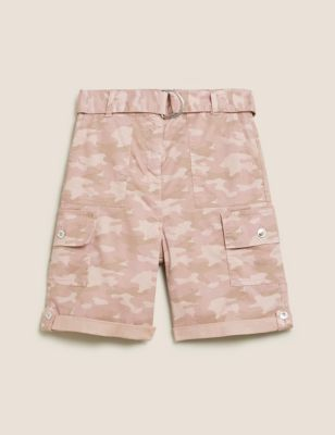 Tencel™ Cargo Camo Utility Shorts