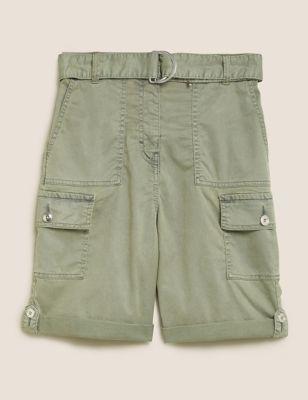 Cotton Tencel™ Cargo Utility Shorts