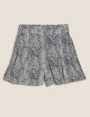 Printed High Waisted Shorts
