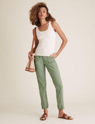 Cotton Slim Fit Ankle Grazer Joggers