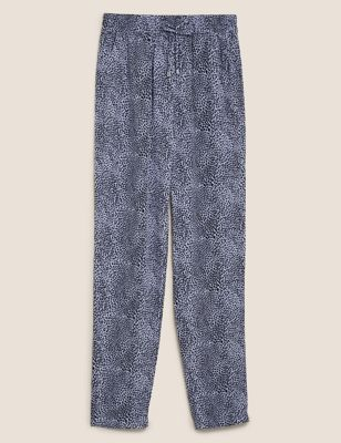 Animal Print Tapered Ankle Grazer Trousers