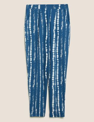 Jersey Tie Dye Tapered Ankle Grazer Trousers