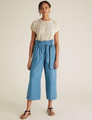 Pure Tencel™ Wide Leg Culottes