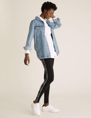 Camo Side Stripe High Waisted Leggings