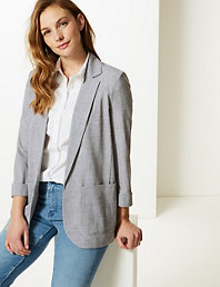 7dc3d7f8 Checked Double Breasted Blazer | M&S Collection | M&S