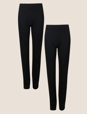 2 Pack Jersey Slim Leg Trousers