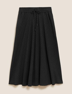 Striped Midi Circle Skirt