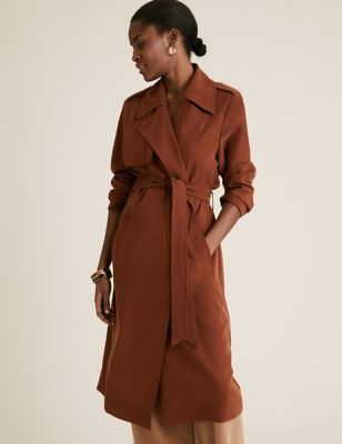 Belted Longline Double Breasted Coat