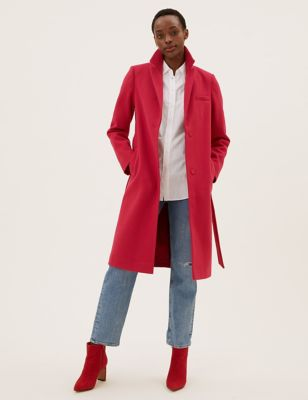 Belted Longline Tailored Coat