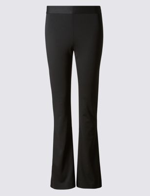 Jersey Slim Fit Bootcut Trousers