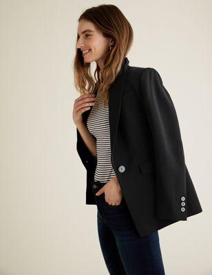 PETITE Tailored Longline Blazer