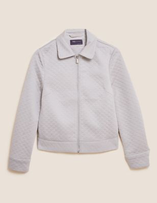 Jersey Quilted Trucker Jacket