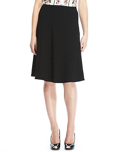 Knee Length A-Line Skirt | M&S