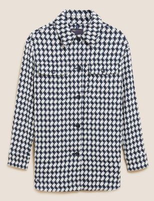 Tweed Longline Shacket