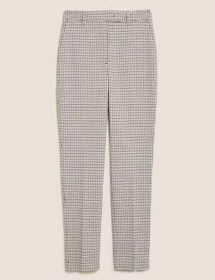Mia Slim Checked Ankle Grazer Trousers