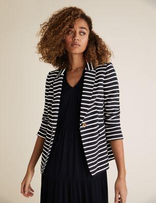Jersey Slim Striped Blazer