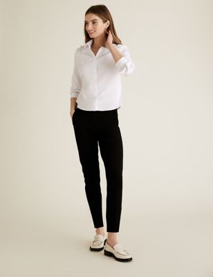 PETITE Cotton Slim Leg Trousers