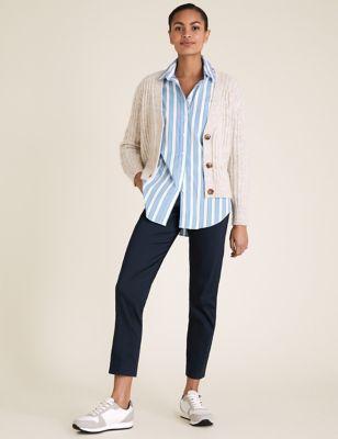Cotton Slim Fit 7/8 Trousers