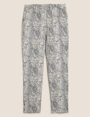 Mia Slim Animal Print Ankle Grazer Trousers