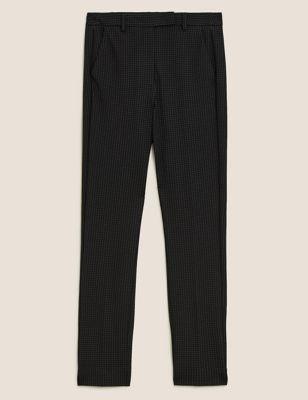 Pin Dot Slim Fit Ankle Grazer Trousers