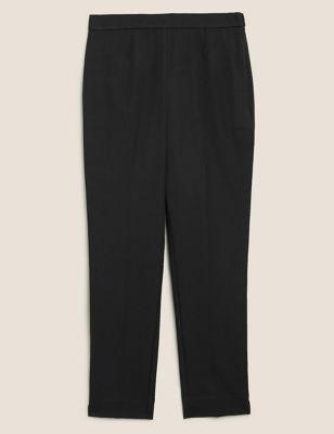 Mia Slim Cotton Ankle Grazer Trousers