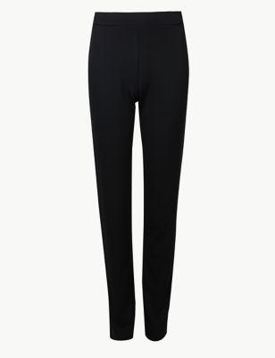 Jersey Slim Leg Ankle Grazer Trousers
