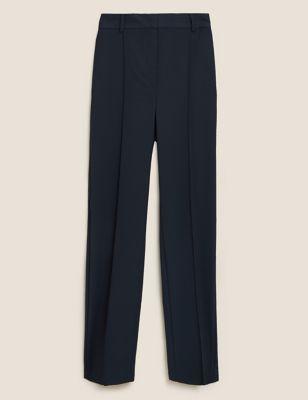 Straight Leg High Waisted Trousers