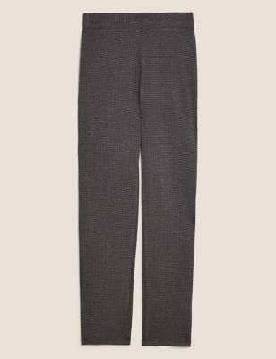 Jersey Dogtooth Slim Fit Trousers