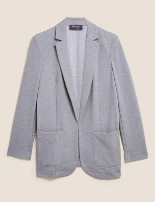 Jersey Single Breasted Blazer