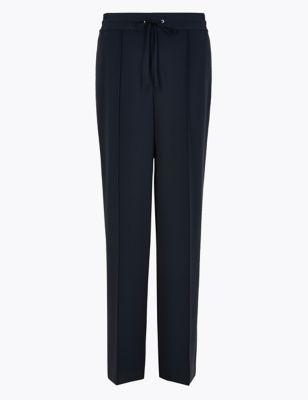 Drawstring Wide Leg Trousers