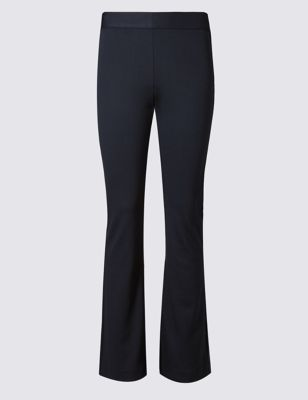 Jersey Slim Fit Flare Trousers