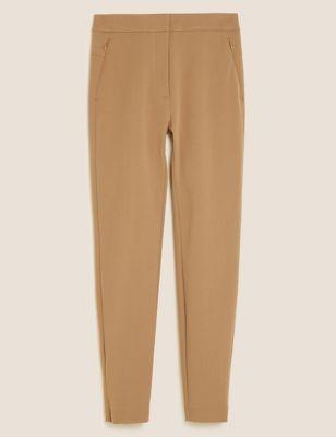 Skinny Ankle Grazer Trousers with Stretch