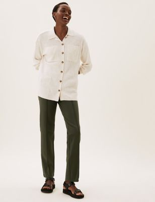 Jersey Straight Leg Trousers
