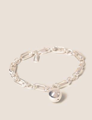 Silver Tone Ball Chain Bracelet