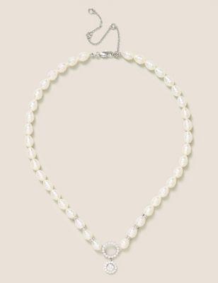 Pearl Cubic Zirconia Necklace