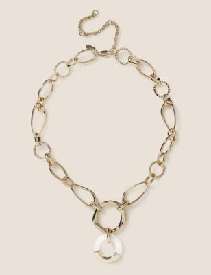 Gold Tone Link Chain Necklace