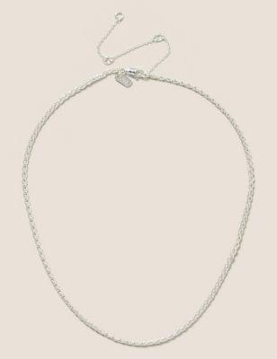 Silver tone twist chain Necklace