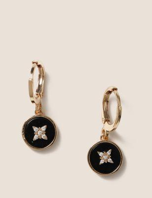 Gold Plated Star Hoop Earrings