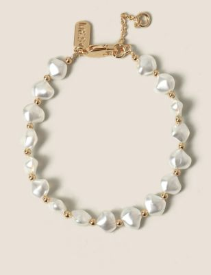 14ct Gold Plated Pearl Bracelet