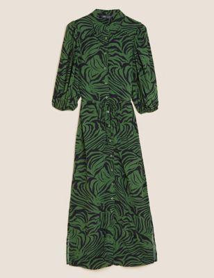 Animal Print Midi Column Dress