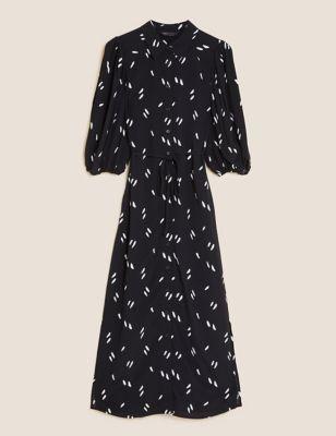 Printed Midi Column Dress