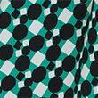 Geometric Tie Front Midaxi Shirt Dress - greenmix