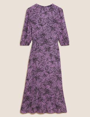 Printed Midaxi Tea Dress