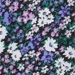 Floral Puff Sleeve Knee Length Shift Dress - purplemix