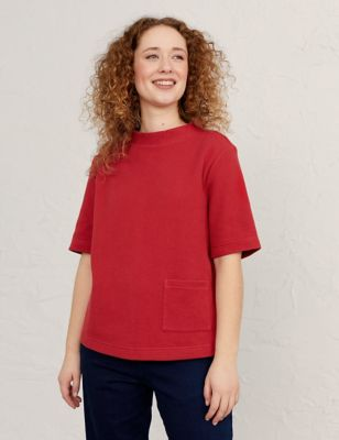 Pure Cotton Short Sleeve Sweatshirt
