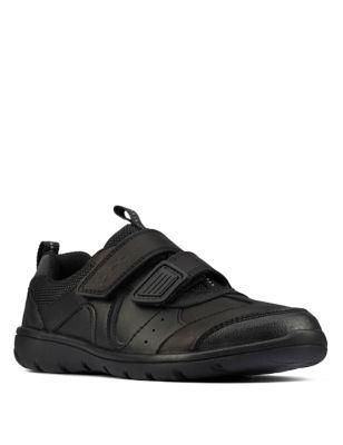 Kids' Leather Riptape School Shoes (Kid size 10-4)