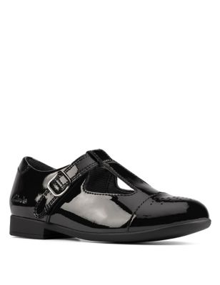 Kids' Leather T-Bar Shoes (Kid size 10-2.5)